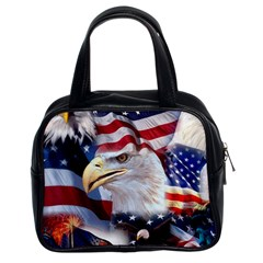 United States Of America Images Independence Day Classic Handbags (2 Sides) by BangZart