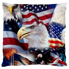 United States Of America Images Independence Day Large Cushion Case (two Sides)