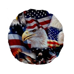 United States Of America Images Independence Day Standard 15  Premium Flano Round Cushions