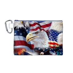 United States Of America Images Independence Day Canvas Cosmetic Bag (m) by BangZart