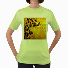 Honey Honeycomb Women s Green T Shirt