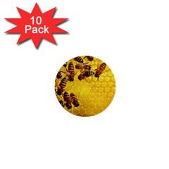 Honey Honeycomb 1  Mini Buttons (10 Pack)