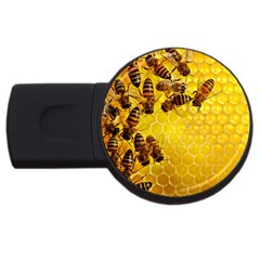 Honey Honeycomb Usb Flash Drive Round (4 Gb)