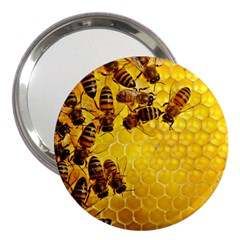 Honey Honeycomb 3  Handbag Mirrors