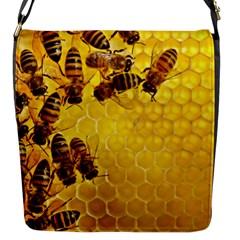 Honey Honeycomb Flap Messenger Bag (s)