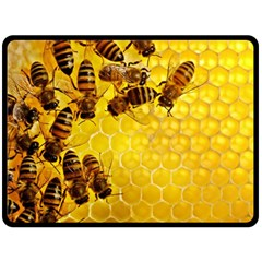 Honey Honeycomb Double Sided Fleece Blanket (large)  by BangZart