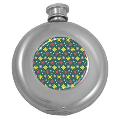 The Gift Wrap Patterns Round Hip Flask (5 Oz)