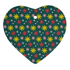 The Gift Wrap Patterns Heart Ornament (two Sides)
