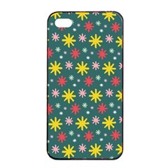 The Gift Wrap Patterns Apple Iphone 4/4s Seamless Case (black)