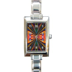 Casanova Abstract Art Colors Cool Druffix Flower Freaky Trippy Rectangle Italian Charm Watch by BangZart