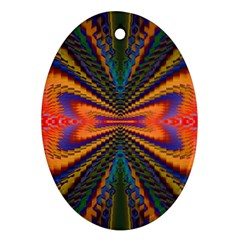 Casanova Abstract Art Colors Cool Druffix Flower Freaky Trippy Ornament (oval)