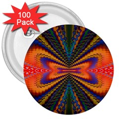 Casanova Abstract Art Colors Cool Druffix Flower Freaky Trippy 3  Buttons (100 Pack)