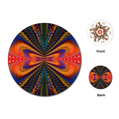 Casanova Abstract Art Colors Cool Druffix Flower Freaky Trippy Playing Cards (round)