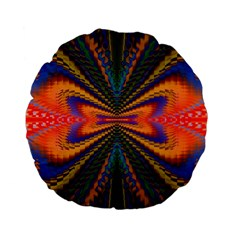 Casanova Abstract Art Colors Cool Druffix Flower Freaky Trippy Standard 15  Premium Flano Round Cushions