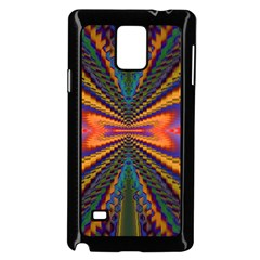 Casanova Abstract Art Colors Cool Druffix Flower Freaky Trippy Samsung Galaxy Note 4 Case (black)