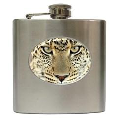 Leopard Face Hip Flask (6 Oz)