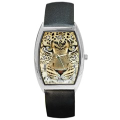 Leopard Face Barrel Style Metal Watch