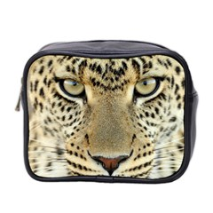 Leopard Face Mini Toiletries Bag 2 Side