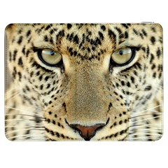 Leopard Face Samsung Galaxy Tab 7  P1000 Flip Case by BangZart