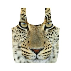 Leopard Face Full Print Recycle Bags (m)
