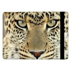 Leopard Face Samsung Galaxy Tab Pro 12 2  Flip Case