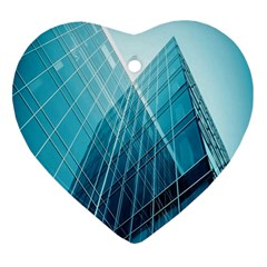 Glass Bulding Ornament (heart)