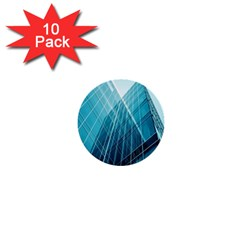 Glass Bulding 1  Mini Buttons (10 Pack)  by BangZart