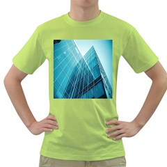 Glass Bulding Green T Shirt