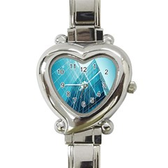 Glass Bulding Heart Italian Charm Watch by BangZart