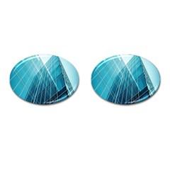 Glass Bulding Cufflinks (oval) by BangZart