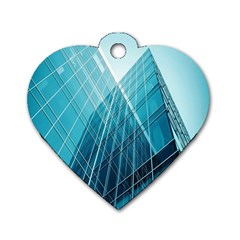 Glass Bulding Dog Tag Heart (two Sides) by BangZart