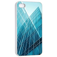 Glass Bulding Apple Iphone 4/4s Seamless Case (white)