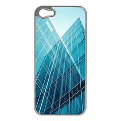 Glass Bulding Apple Iphone 5 Case (silver)