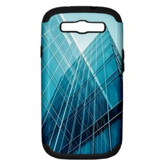 Glass Bulding Samsung Galaxy S Iii Hardshell Case (pc+silicone) by BangZart