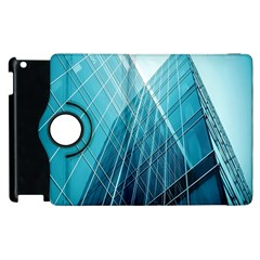 Glass Bulding Apple Ipad 3/4 Flip 360 Case by BangZart