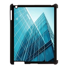 Glass Bulding Apple Ipad 3/4 Case (black)