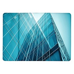 Glass Bulding Samsung Galaxy Tab 10 1  P7500 Flip Case by BangZart