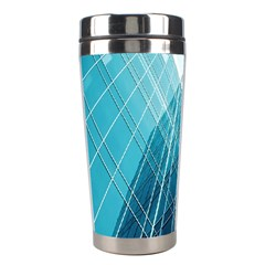 Glass Bulding Stainless Steel Travel Tumblers by BangZart