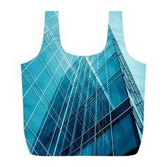 Glass Bulding Full Print Recycle Bags (l)  by BangZart