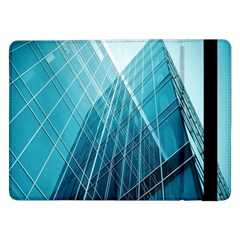 Glass Bulding Samsung Galaxy Tab Pro 12 2  Flip Case by BangZart