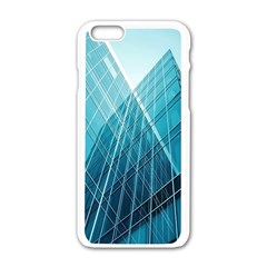 Glass Bulding Apple Iphone 6/6s White Enamel Case by BangZart