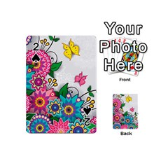 Flowers Pattern Vector Art Playing Cards 54 (mini)