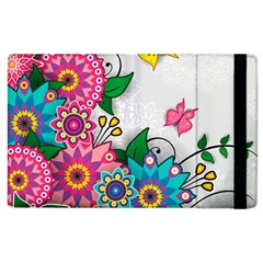 Flowers Pattern Vector Art Apple Ipad 2 Flip Case