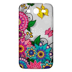 Flowers Pattern Vector Art Samsung Galaxy Mega 5 8 I9152 Hardshell Case