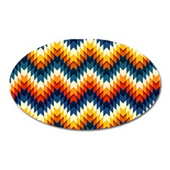 The Amazing Pattern Library Oval Magnet by BangZart
