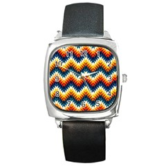 The Amazing Pattern Library Square Metal Watch