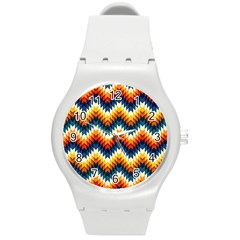 The Amazing Pattern Library Round Plastic Sport Watch (m)