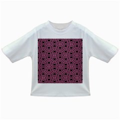 Triangle Knot Pink And Black Fabric Infant/toddler T Shirts