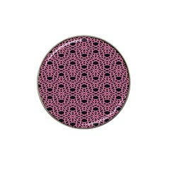Triangle Knot Pink And Black Fabric Hat Clip Ball Marker (4 Pack)