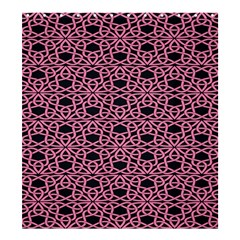 Triangle Knot Pink And Black Fabric Shower Curtain 66  X 72  (large)